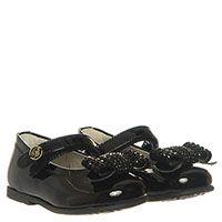 Туфли из лаковой кожи черного цвета с ремешком на липучке Miss Blumarine, фото