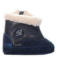 Замшевые пинетки-туфли Miss Blumarine с утеплителем, фото