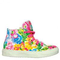 Кроссовки из текстиля Naturino с цветочным принтом, фото