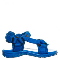 Яркие синие сандалии Armani с логотипом, фото