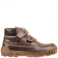 Темно-коричневые ботинки Naturino на двух липучках, фото