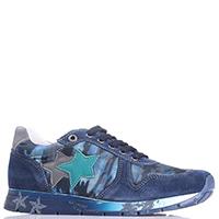 Синие кроссовки Naturino с аппликацией в виде звезд, фото
