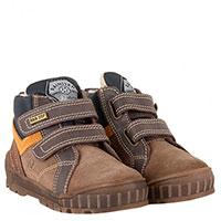 Замшевые ботинки Naturino на липучках утепленные мехом, фото