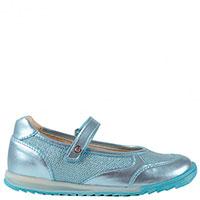 Туфли Naturino из голубой кожи с текстильными вставками, фото