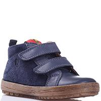 Замшевые ботинки Naturino синего цвета, фото