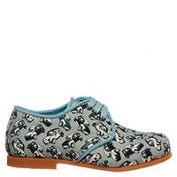 Туфли Dolce & Gabbana голубого цвета с принтом в виде автомобилей, фото