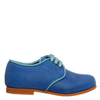 Яркие синие туфли Dolce & Gabbana на шнуровке, фото