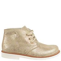 Золотые кожаные ботинки Andrea Morelli на небольшом каблуке, фото