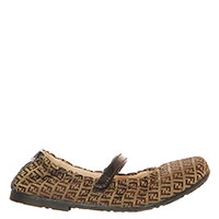 Туфли Fendi из текстиля и кожи на липучке, фото