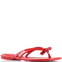 Резиновые сланцы Florens красного цвета, фото
