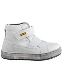 Ботинки Naturino из белой кожи на толстой подошве, фото