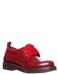 Туфли Twin-Set из бордовой кожи на шнуровке, фото
