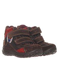 Замшевые высокие кроссовки на меху коричневого цвета Naturino на липучках, фото
