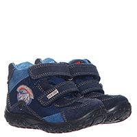 Замшевые высокие кроссовки на меху на липучках Naturino синего цвета, фото
