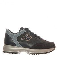 Замшевые кроссовки Hogan Junior с кожаными и текстильными вставкам, фото