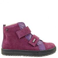 Замшевые ботинки Naturino с тиснением и кожаными вставками, фото