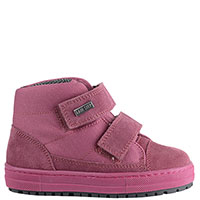 Замшевые ботинки Naturino розового цвета на двух липучках, фото