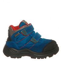 Ботинки синего цвета Naturino на двух липучках , фото