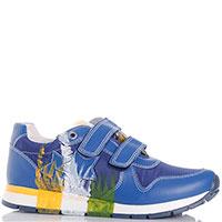 Синие кроссовки Naturino с принтом и нашивками, фото