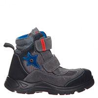 Замшевые ботинки Naturino с текстильными вставками с защитной мембраной, фото