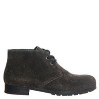 Ботинки Prada из серой замши на шнуровке, фото