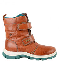 Кожаные коричневые ботинки Naturino на липучках, фото