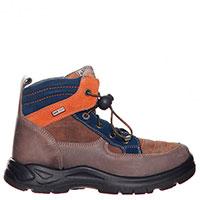 Коричневые ботинки Naturino с замшевыми вставками, фото