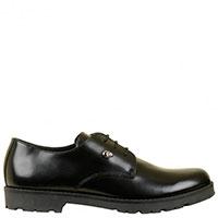 Туфли Florens из кожи черного цвета на шнуровке, фото
