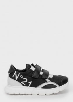 Черные кроссовки N21 на липучках, фото