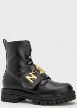 Детские кожаные ботинки N21 на меху, фото