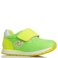 Кроссовки на липучках Naturino салатовые с желтым, фото