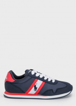 Синие кроссовки Polo Ralph Lauren с логотипом, фото