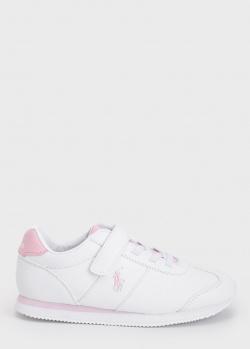 Кроссовки для девочек Polo Ralph Lauren белого цвета, фото