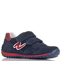 Замшевые кроссовки Naturino синего цвета на липучках, фото