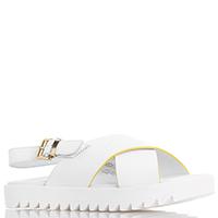 Детские сандалии Armani Junior белого цвета на толстой подошве, фото