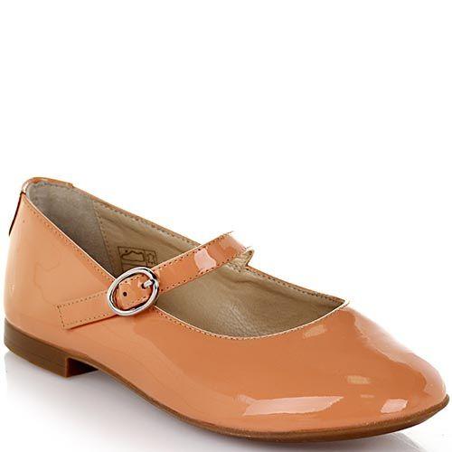 Туфли на застежке Dolce&Gabbana из лакированной кожи персикового цвета, фото