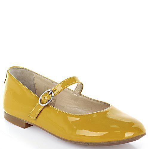 Туфли Dolce&Gabbana кожаные желтого цвета, фото