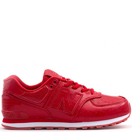Кроссовки New Balance 574 красного цвета, фото