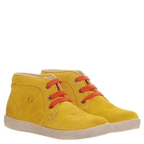 Желтые ботинки из замши Falcotto но толстой подошве, фото