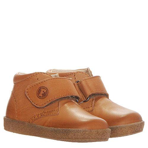 Ботинки из кожи светлого коричневого цвета Falcotto на меху и липучках, фото