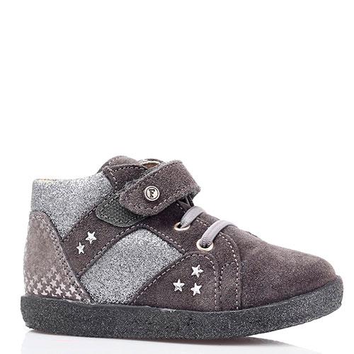 Замшевые ботинки серого цвета Falcotto на толстой подошве, фото