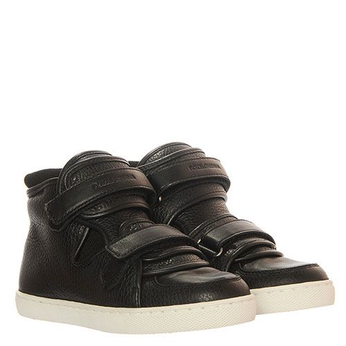 Черные кожаные кеды на липучках Dolce&Gabbana, фото