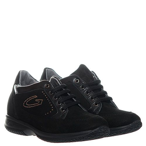 Кроссовки из замши Guardiani черного цвета с логотипом, фото