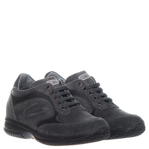 Серые замшевые кроссовки Guardiani с кожаными вставками, фото