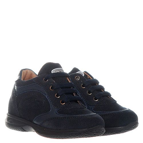 Кроссовки из замши синего цвета с вставками из кожи Guardiani, фото