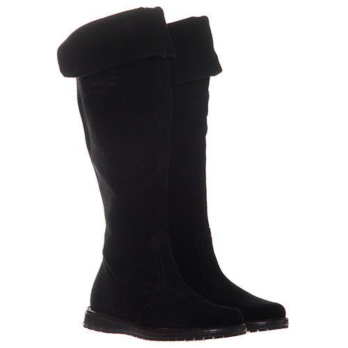 Замшевые сапоги черного цвета Dolce&Gabbana, фото