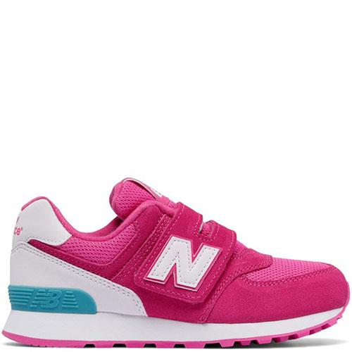Розовые кроссовки на липучках New Balance 574 Lifestyle, фото