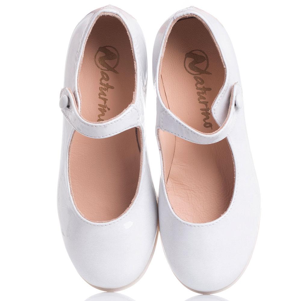 Белые туфли Naturino с ремешком