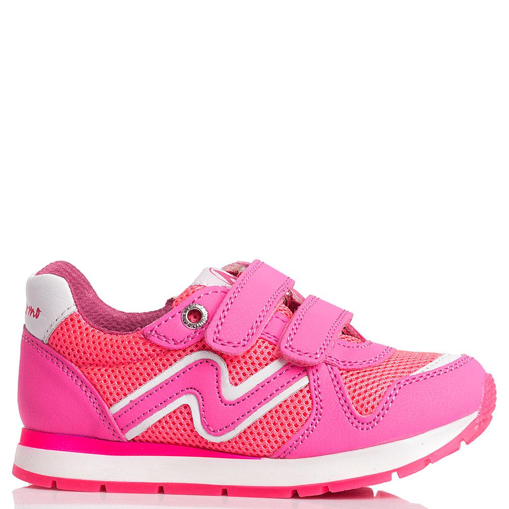 Кроссовки на липучках Naturino розового цвета