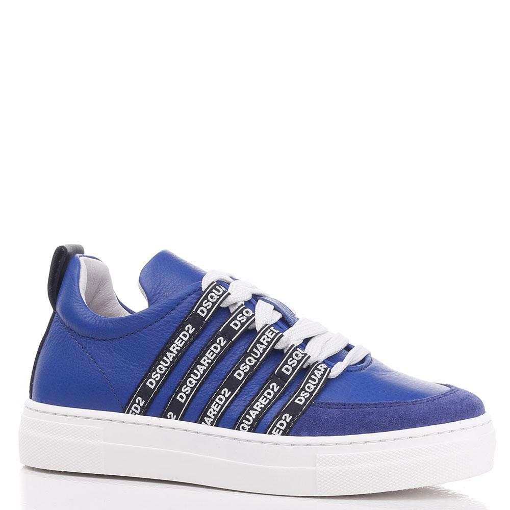 Синие кеды Dsquared2 на шнуровке